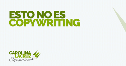 Esto no es copywriting