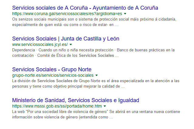 posicionar en Google Servicios Sociales